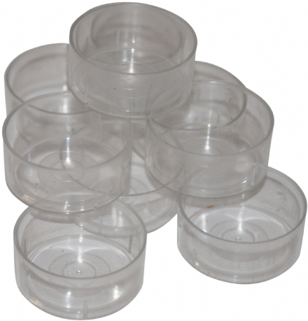 Tealight Cup/ Mould - Clear Polycarbonate 4 hour Cup